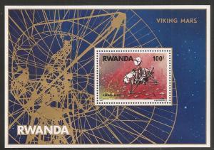 Rwanda 827 1977 Viking Mars Landing s.s. MNH