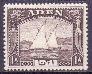 Aden Scott 3 - SG3, 1937 Dhow 1a MH*