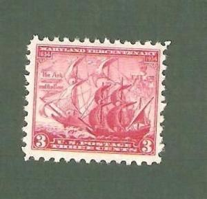 736 Maryland Tercentenary US Single Mint/nh (Free shipping offer)