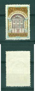 Denmark. Poster Stamp 1921.Freemason.Masonic.Lodge St. Clemens Aarhus 50 year.