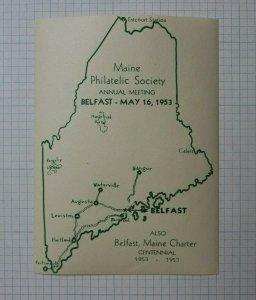 1971 MPS Belfast ME Philatelic Souvenir Label Ad