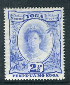 TONGA; 1920 early Pictorial issue Mint hinged 2.5d. value