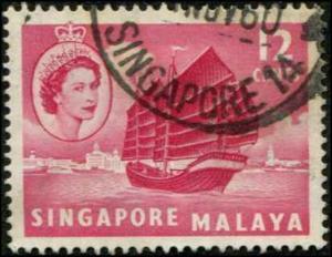 Singapore SC# 35 Local Junk 12c Singapore cancel