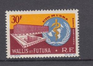 J28061 1966 wallis & futuna set of 1 mnh #c25 who