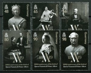 Guernsey 2019 MNH Queen Victoria & Prince Albert 6v Set Royalty Stamps