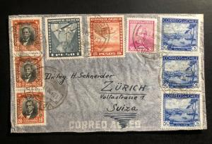 1936 Valdivia Chile Airmail Cover to Zurich Switzerland