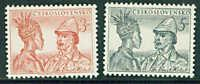 Czechoslovakia Scott 499-500 MH* stamp set CV$2.25