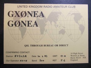10324 Amateur Radio QSL Card HERTS ENGLAND
