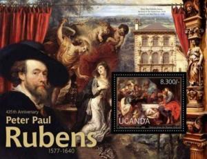 Uganda - Peter Paul Rubens Artworks - Stamp Souvenir Sheet - 21D-028