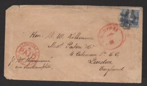 US Sc#115 to London 1870 Trans Atlantic cover