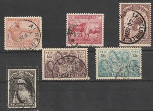 #99,113,148,158,161,163 Belgium Congo Used