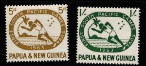 PNG Papua New Guinea Scott 176-177 MNH** sports set