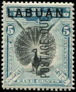 Labuan SC# J4 Postage Due 5c MH