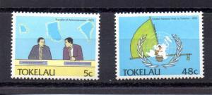 Tokelau #151,154 MNH