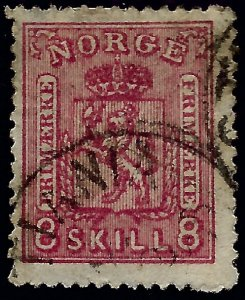Norway #15 Used Fine hr SCV$70...Chance to buy a Bargain!
