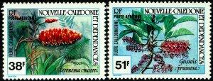 New Caledonia #C170-71  MNH - Flowers (1981)