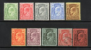 Turks & Caicos Islands - SG# 117 - 126 MH ( h rem/ 125 used)    /    Lot 0121089