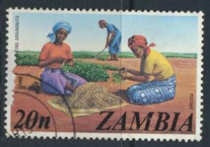 Zambia  SG 235  Sc# 144  Used Groundnuts  see detail and scan