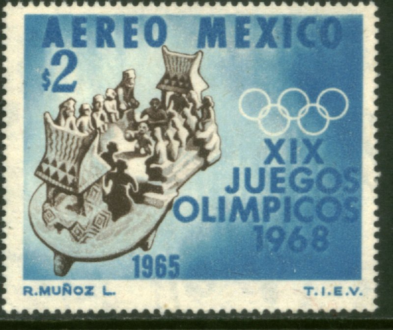 MEXICO C311, $2P 1st Pre-Olympic Issue - 1965 MINT, NH. VF.