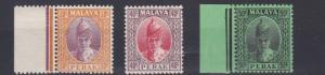 PERAK  1938 - 41    S G  116 - 118     VARIOUS VALUES TO 50C  MH   CAT £95