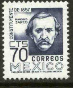 MEXICO 1093, 70¢ 1950 Defin 9th Issue Unwmkd Fosfo Glazed. MINT, NH- VF.