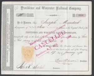Scott #RN-T4 Providence RI, Revenue Stamped Paper