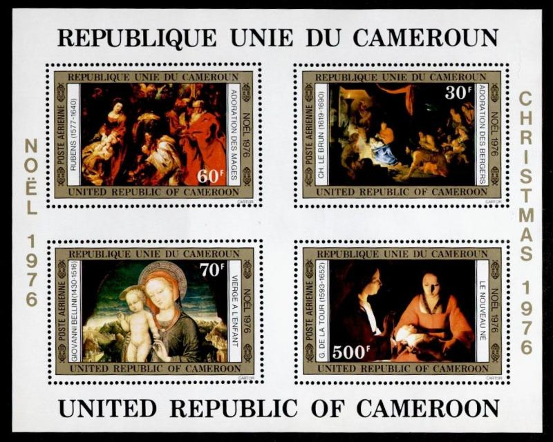 Cameroun C238a MNH Christmas, Art, Paintings