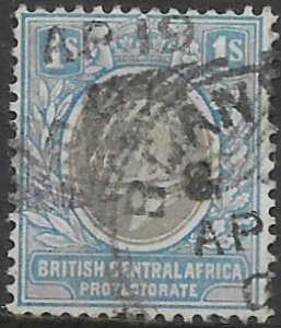 British Central Africa 64  1904  1 shilling fine used
