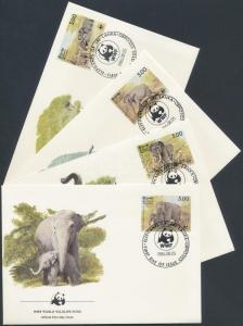 Sri Lanka stamp WWF Elephant 4 FDC Cover 1986 Mi 753-756 WS163047