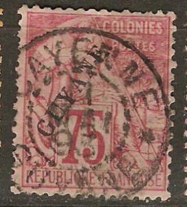 French Guiana 29 Cer 27 Used SOTN F/VF 1892 SCV $110.00