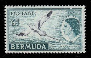 Bermuda 1953 QEII 6d Bird SG 143 mint