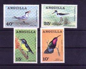 024495 BIRDS 1968 ANGUILLA set of 4 MNH#24495