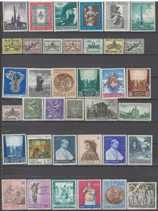 COLLECTION LOT OF #1146 VATICAN 37 STAMPS 1929+