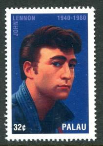 PALAU 1995 JOHN LENNON MEMORIAL STAMP MINT NEVER HINGED COMPLETE.