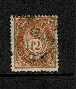 Norway SC# 42, Used, horizontal crease - S9214