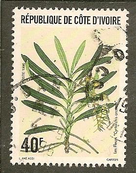 Ivory Coast       Scott 987     Orchid, Flora      Used