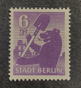 Germany 1945 SBZ 6 Pfg Stadt Berlin Bear