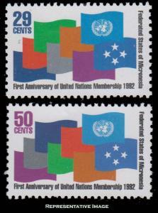 Micronesia Scott 152-153 Mint never hinged.