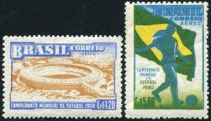 HERRICKSTAMP BRAZIL Sc.# C78-79 Soccer Cup FIFA