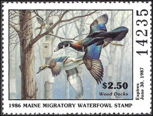 ME3 Mint,OG,NH... State Duck Stamp... SCV $9.00... XF