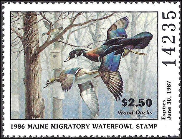 ME3 Mint,OG,NH... State Duck Stamp... SCV $9.00... XF