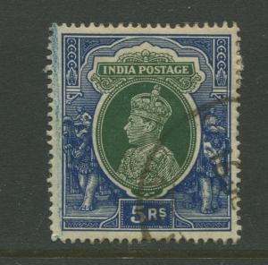 STAMP STATION PERTH India #164 KGVI Definitive FU CV$0.60.