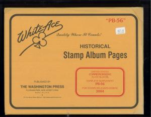 2004 White Ace U.S Commemorative Issue Plate Block Stamp Supplement Pages PB-56