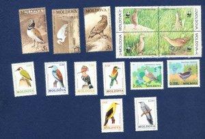 MOLDOVA -  - FVF MNH - BIRDS - 1992-2001