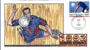 COLLINS HAND PAINTED 2640 1992 Olympics Volleyball
