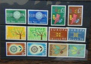 Iceland 1960 1961 1962 1963 1964 1965 Europa sets MNH