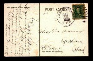 1907 Zanes & Shaw RPO Card - L23997