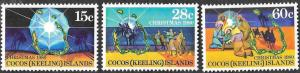 Cocos Islands - SC 53-55 - Christmas Themes - MNH - 1980