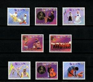 BARBADOS - 2003 - FESTIVALS - JAZZ - CROP OVER - CREATIVE ARTS + MINT - MNH SET!
