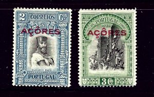 Azores 284-85 MH 1928 issues  pencil marks